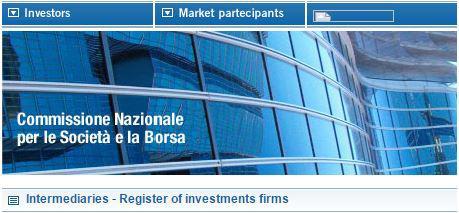 trade.com consob broker regolamentato