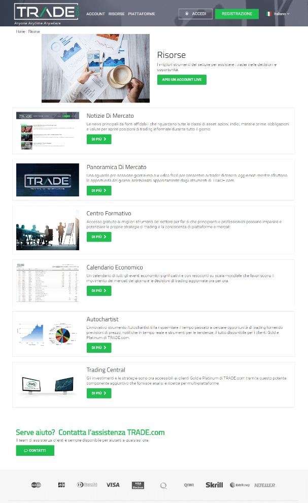trade.com pro e contro